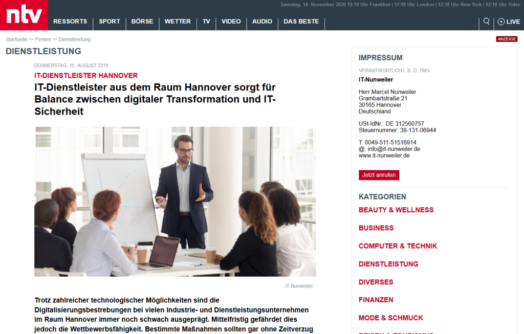 IT_Hannover_IT_Services_NTV_Report